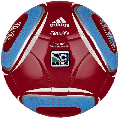Adidas WC10 Tropheo Colorado Rapids Soccer Ball, University Red/Pool/White, 4