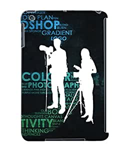 Fuson Creative Text Back Case Cover for APPLE IPAD MINI - D3774