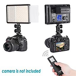 Bestlight® Two Pieces LED308C 308 Pieces LED Ultra High Power Dimmable Video Light with Built-in LCD Panel for Canon,Nikon,Sony, Samsung, Olympus and Other Digital DSLR Cameras