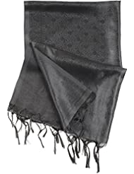 Ethnic India Online Women's Art Silk Stole (Black)