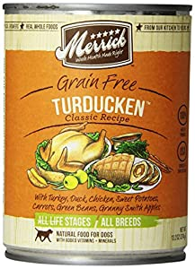 Merrick Turducken Dog Food 13 2 oz 12 Count Case Canned
