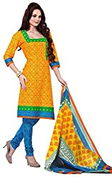 AMP IMPEXEthnicwear Women's Dress Material Yellow_Free Size