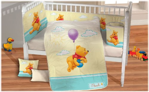 Hot Seller Baby'S Flying Winnie The Pooh Crib Bedding 6 Pc Set (Yellow) front-67442