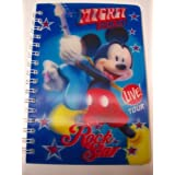 """Disney Mickey Mouse 3D Journal ~ Mickey Rocks, Rock Star (4"""" X 5.75""""; 50 Sheets, 100 Pages)"""