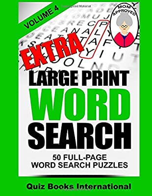 Extra Large Print Word Search Volume 4