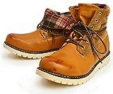 (リベルトエドウィン) LIBERTO EDWIN ワークブーツ レインシューズ ブーツ シューズ 防水 防寒 折り返し メンズ 28cm キャメル