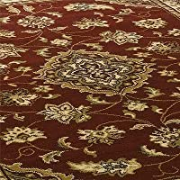 Sincerity Sherbourne Red Beige Green Navy Blue Rugs Traditional Large Thick Cheap Affordable Bedroom Lounge Rugs (Red, 200 x 290cm) by Flair Rugs