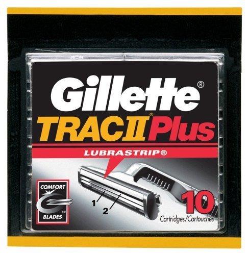 Gillette TRAC II Plus Refill Cartridges - 10 ct (Gillette Track 2 Razor Blades compare prices)