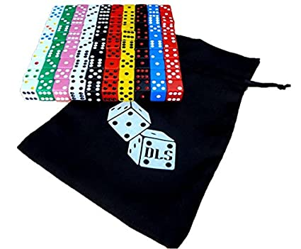100 Assorted Dice 10 Colors 16