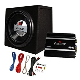 "Visonik VB10A 600 Watt 10"" Car Subwoofer Box/Amplifier/Amp Kit Package"