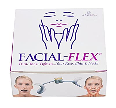 Facial Flex Facial Exercise and Neck Toning Kit With Facial Flex Ultra Device, Facial Flex Bands 8 oz & 6 oz Packs & Carrying Case - FDA-Registered Facial Exercise Devices for Face Lift Toning & Strengthening