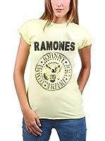 Amplified Camiseta Manga Corta Print Vintage-Ramones (Amarillo)