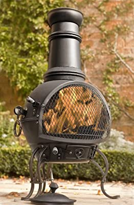 Steel Chiminea in black OGD22