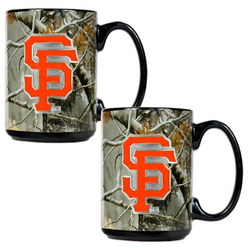Nfl New York Giants Open Field Two Piece Ceramic Mug Set