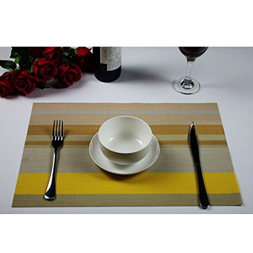 DGI MART Home Use Table Decorative Pads Hand-woven