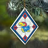 Kansas Jayhawks Stained Glass Ornament