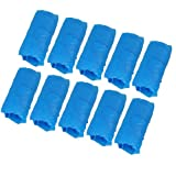 Amico 100 Pieces Home Office Blue Plastic Disposable Shoes Cover