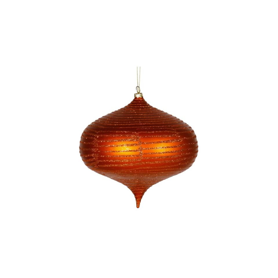 Vickerman 63 Burnish Orange Matte and Glitter Finish Onion Christmas Ornament