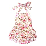 Lisianthus Baby Girls' Ruffles Romper Dress Summer Clothing Rose A Size 24M