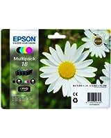 Epson T1806 Cartouche d'Encre d'Origine Claria Home Multipack Noir, Cyan, Magenta, Jaune
