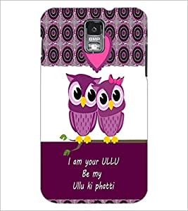 PrintDhaba Loving Owls D-3978 Back Case Cover for SAMSUNG GALAXY S5 (Multi-Coloured)