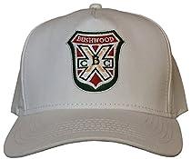 Bushwood WHITE Retro Snapback Golf Cap/Hat