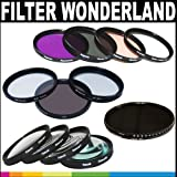 Polaroid Premium Package: Polaroid Optics 77mm Filter Wonderland Kit (HD Multi-Coated Variable Range Neutral Density, UV, Circular Polarizer, Warming, ND9, FLD, Soft Focus, Rotating 4 Point Star, +1, +2, +4, +10)