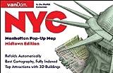 Pop-Up NYC Map by VanDam - City Street Map of New York City, New York - Laminated folding pocket size city travel and subway map