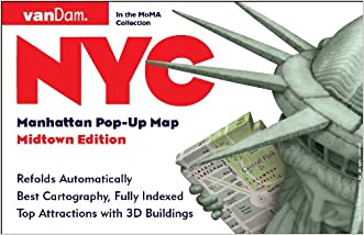 Pop-Up NYC Map by VanDam - City Street Map of New York City, New York - Laminated folding pocket size city travel and subway map