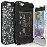 iPhone6s ケース [TORU] iPhone6 ケース 手帳型 [衝撃吸収][カードホルダー][スタンド][ミラー] - おしゃれな アイフォン6/6s用 耐衝撃TPUハードカバー [アニマル]