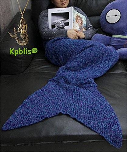 "Kpblis®Warm and Soft All Seasons Mermaid Blanket for Adults And Kids,Sofa Quilt Living room blanket 71""*31""(Blue)"