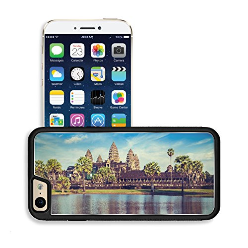 Luxlady Premium Apple iPhone 6 iPhone 6S Aluminum Backplate Bumper Snap Case IMAGE ID 31068520 Vintage retro effect filtered hipster style travel image of Cambodia landmark Angkor Wat with r (Angkor Wat Model compare prices)