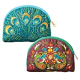 Peacock & Feather Purses (2)