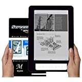 Amazon Kindle DX 9.7 inch E-Book Reader (BLACK) Silicone Skin Rubber Case + L... ~ MyGift