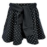 アスナロ(ボトムス ハーフパンツ) キュロットパンツ 子供 女児 リボンベルト付 パンツ キュロット140 ブラック