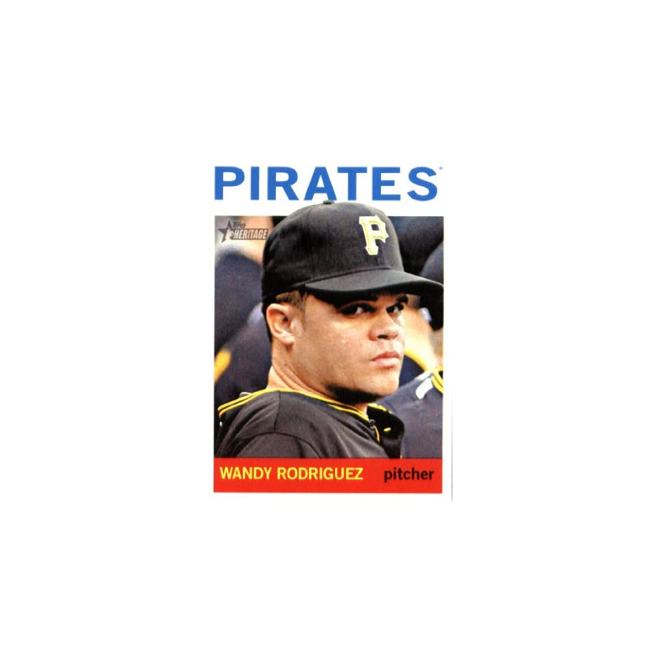 2013 Topps Heritage MLB Trading Card # 282 Wandy Rodriguez Pittsburgh Pirates