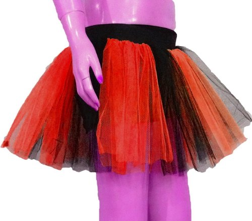 Red Black Tone Tutu Skirt Dance Fancy Costume Dress Party Free Ship