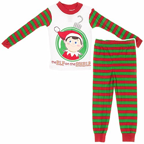 elf on the shelf red fleece pajamas for girls ame boys 4 8. Black Bedroom Furniture Sets. Home Design Ideas