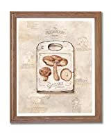 Mushrooms Kitchen Cafe Contemporary Home Decor Wall Picture Oak Framed Art Print