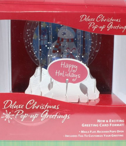 Deluxe Christmas Blue Snowman Pop-up Greeting