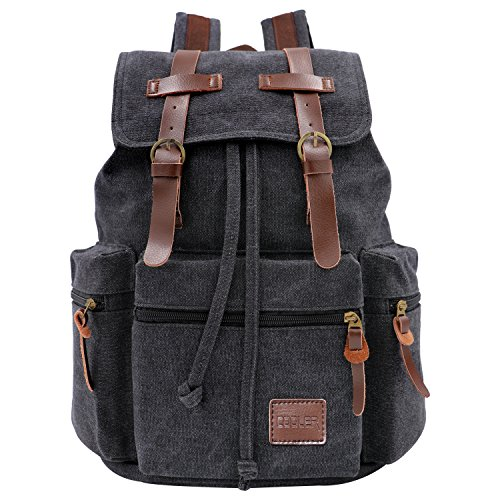 cooler neu herren damen vintage canvas rucksack retro rucksack vintage f r outdoor sports. Black Bedroom Furniture Sets. Home Design Ideas