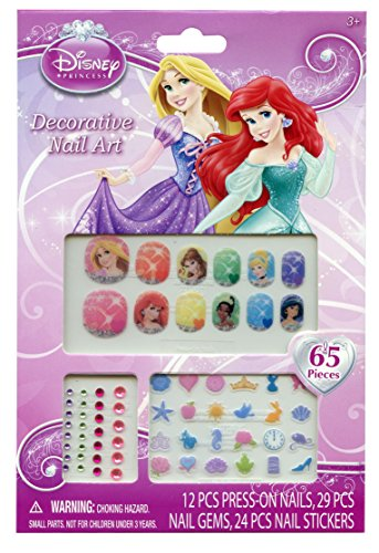 Disney Princess 65 Piece Decorative Nail Art Kit - 1