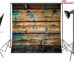 Duluda Wooden theme 5X5FT Indoor Studio Photography Background Computer-printed Poly Fabric Seamless Backdrop GMK588