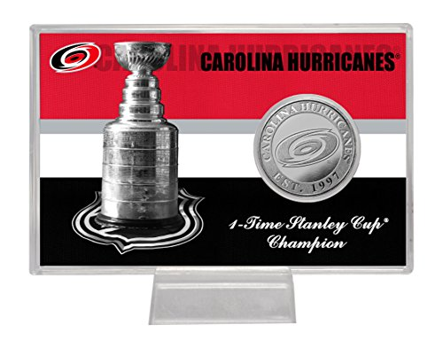 "NHL Carolina Hurricanes Stanley Cup ""History"" Coin Card, 8"" x 4"" x 1"", Silver"