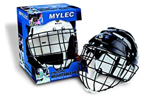 Mylec Helmet with Wire Face Cage - Senior - White