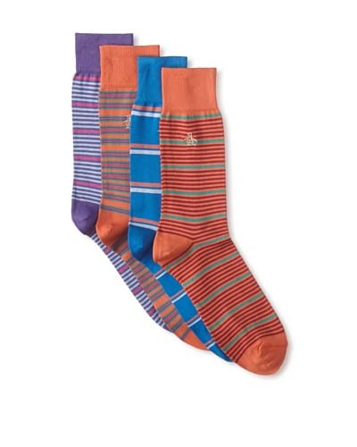 Original Penguin Men's Multi-Patterned Socks – 4 Pack