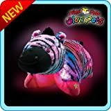 """Pillow Pets Glow Pets - Zebra 12"""""""