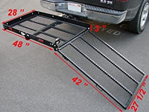 Folding Strong Electric Wheelchair Hitch Carrier Mobility Scooter Loading Ramp by T-Motorsports
