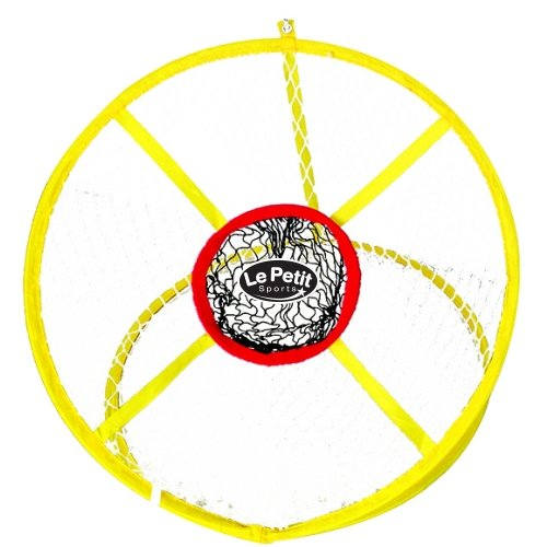 Le Petit Sports - Golf Chipping Net 24 inch with Center Target - Bright Yellow