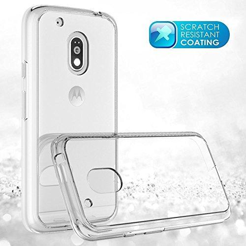 36fb3126de7 Buy CEDO Premium Transparent clear white Silicon Flexible Soft TPU Slim Back  Case Cover For Moto G Plus 4th Gen (G4 Plus   4th Generation) on Amazon ...